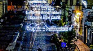 Opera luminaria dedicata a Pino Daniele