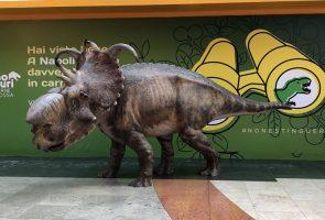 Dinosauro al Centro Commerciale Campania