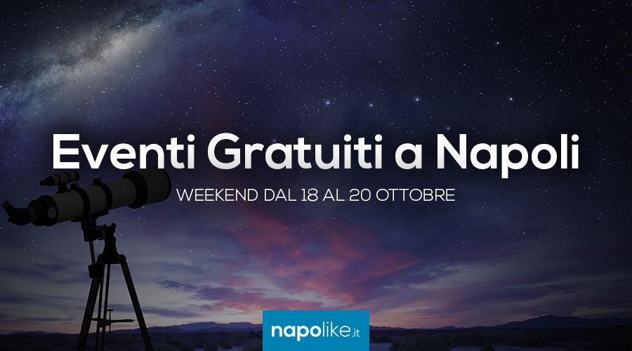 Eventos Eventos gratuitos en Nápoles durante el fin de semana de 18 a 20 Octubre 2019