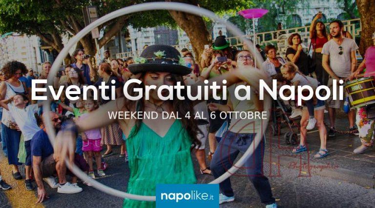 Événements gratuits à Naples pendant le week-end de 4 à 6 Octobre 2019