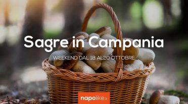 المهرجانات في كامبانيا خلال عطلة نهاية الأسبوع من 18 إلى 20 أكتوبر 2019