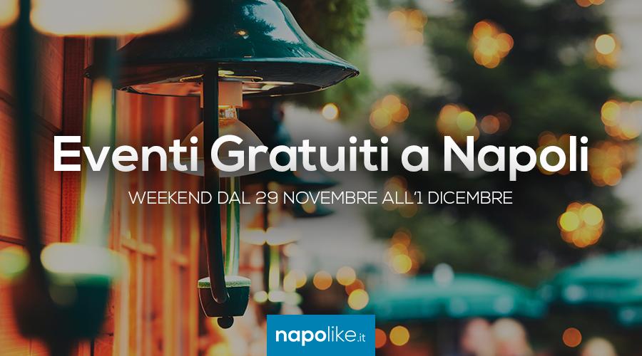 Eventi gratuiti a Napoli nel weekend dal 29 novembre all'1 dicembre 2019