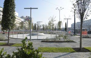 ナポリの新しいガリバルディ広場、緑