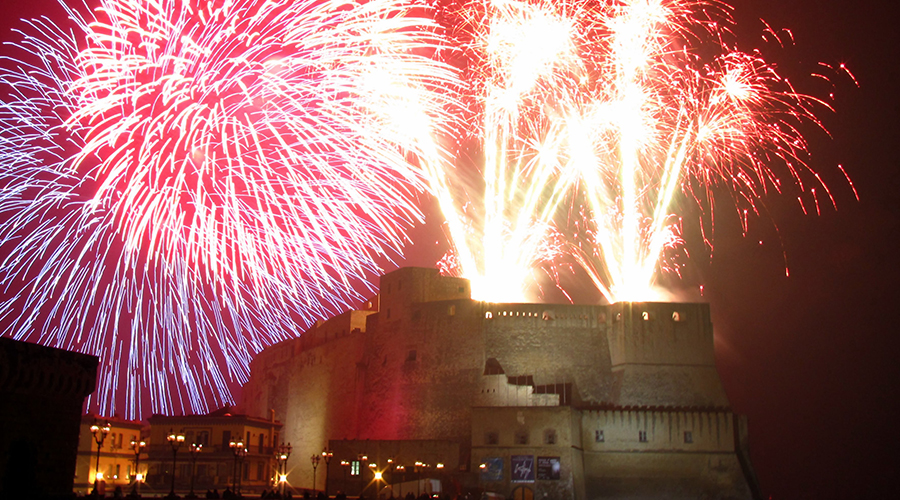 Fireworks at the Castel dell'Ovo