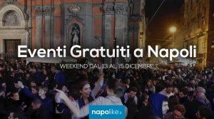 Eventi gratuiti a Napoli nel weekend dal 13 al 15 dicembre 2019