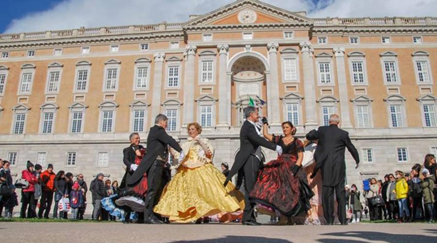卡塞塔王宫的复古舞