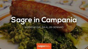 24から26への週末のCampaniaでの祭り1月2020