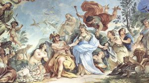 poster by Luca Giordano on display at the Capodimonte Museum in Naples with over 90 works