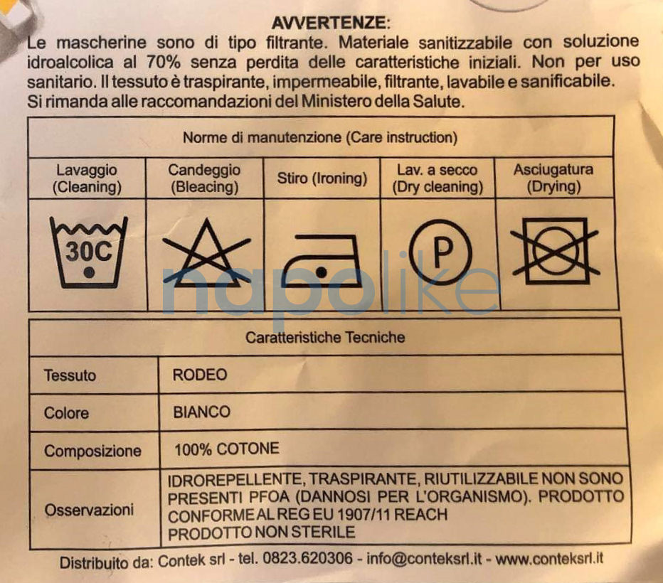 Istruzioni Mascherine Coronavirus Regione Campania