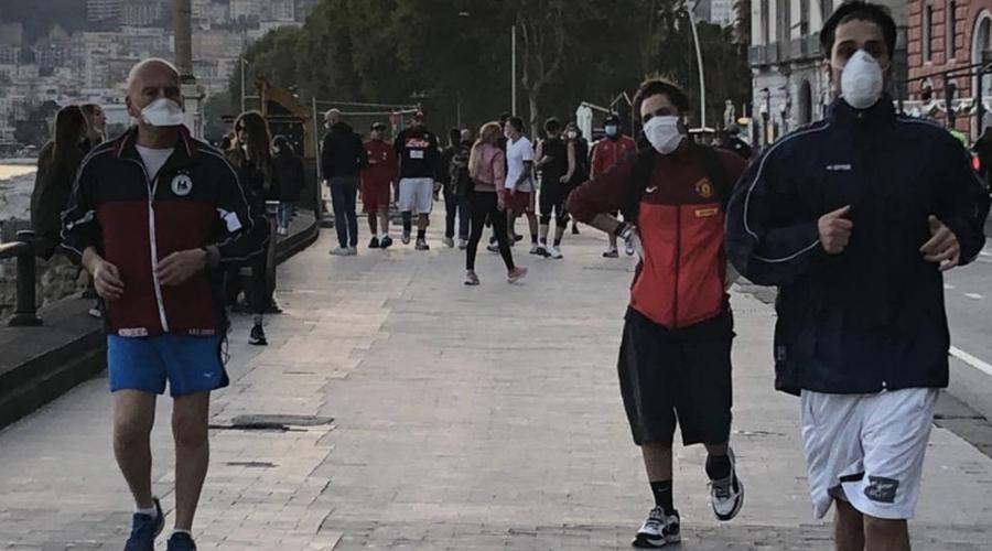 Jogging sul Lungomare di Napoli