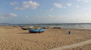 Spiaggia libera a Pozzuoli