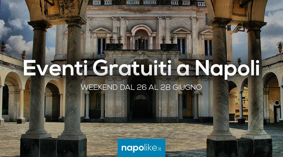 6月の26から28への週末のナポリでの無料イベント
