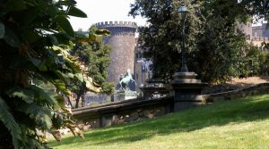 poster of The Romantic Garden of the Royal Palace in Naples is open to visitors