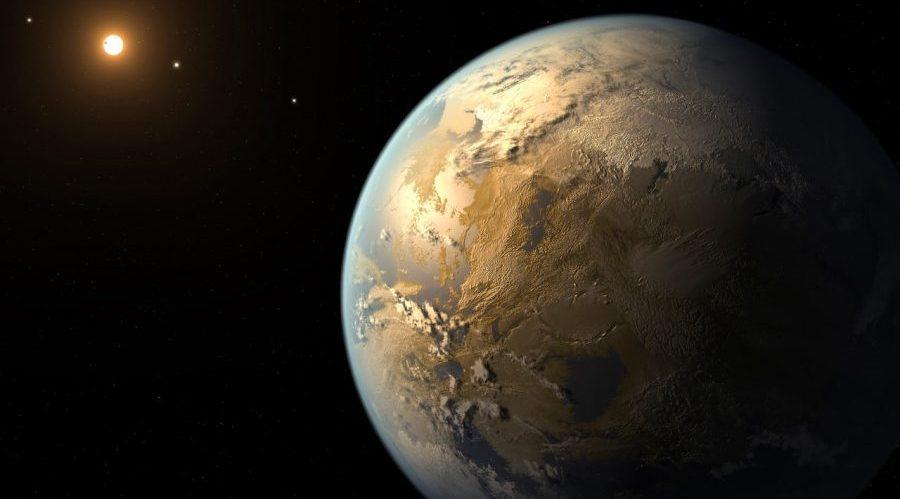 Rappresentazione del pianeta Kepler