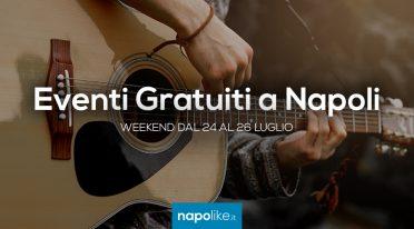 周末在那不勒斯举行的免费活动,从24到26 July 2020