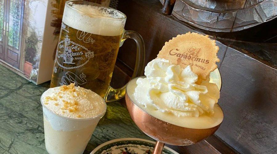 Gelato alla birra del Caffè Gambrinus a Napoli