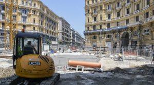 Lavori in Piazza Nicola Amore a Napoli