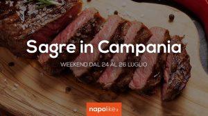 24から26への週末のCampaniaでの祭典7月2020
