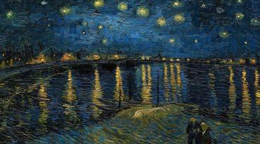 Sternennacht über der Rhone von Van Gogh