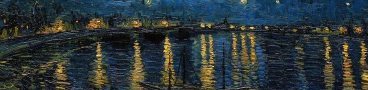 Notte stellata sul Rodano di Van Gogh
