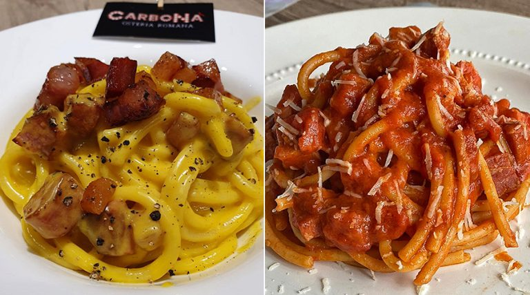 Carbonara and Amatriciana