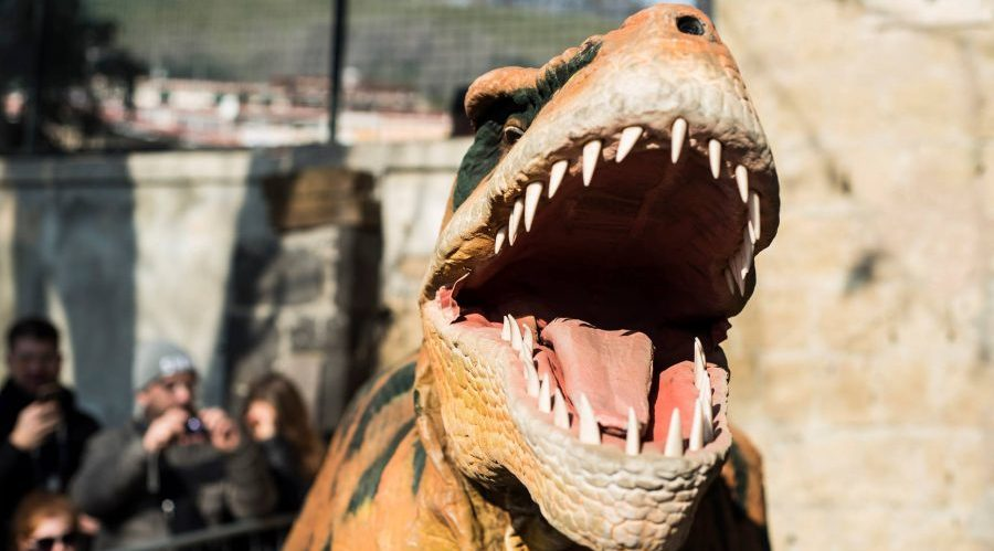 Dinosauro allo Zoo di Napoli