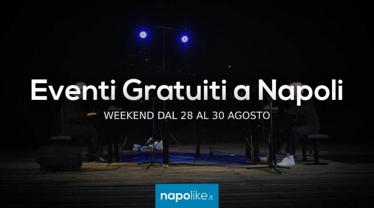 Gratis-Veranstaltungen in Neapel das Wochenende im August 28 zu 30 2020