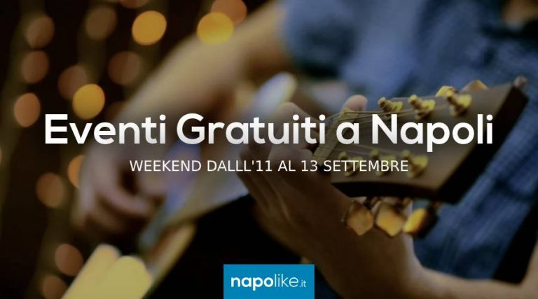 Free events in Naples during the weekend from 11 to 13 September 2020
