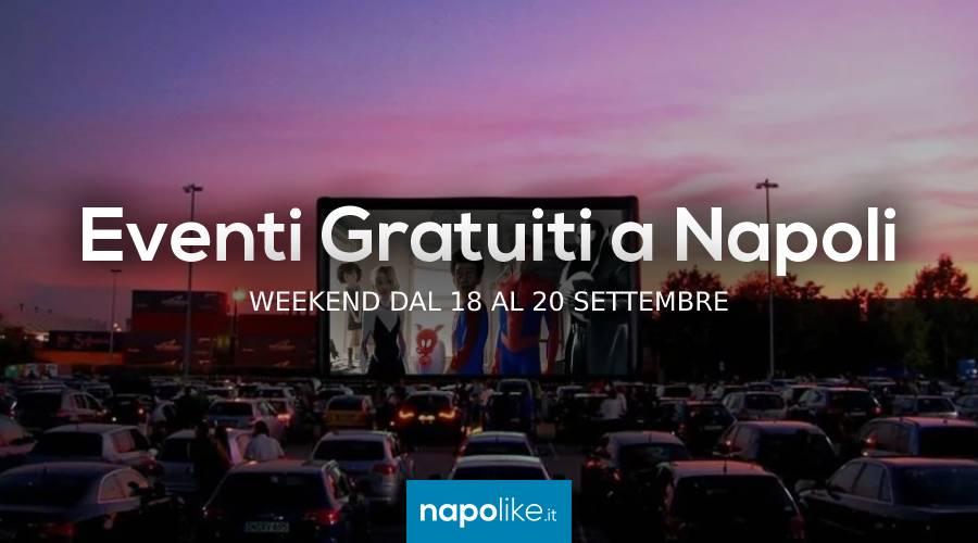 Eventi gratuiti a Napoli nel weekend dal 18 al 20 settembre 2020