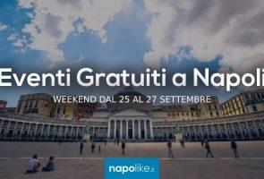 Événements gratuits à Naples pendant le week-end de 25 à 27 September 2020