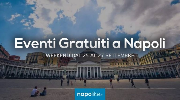Free events in Naples during the weekend from 25 to 27 September 2020