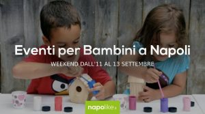 Events for children in Naples during the weekend from 11 to 13 September 2020