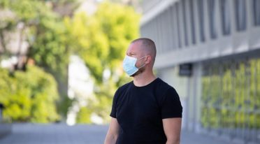 Man with protective mask