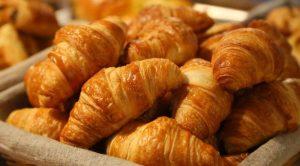 Baked croissants