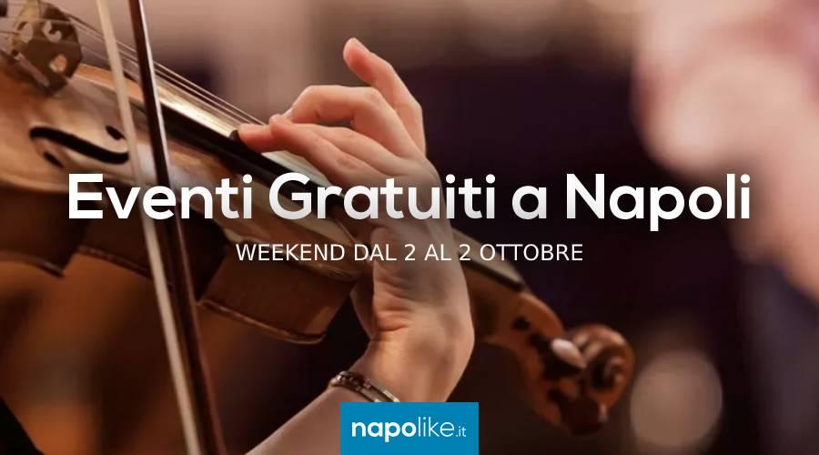 Eventi gratuiti a Napoli nel weekend dal 2 al 4 ottobre 2020