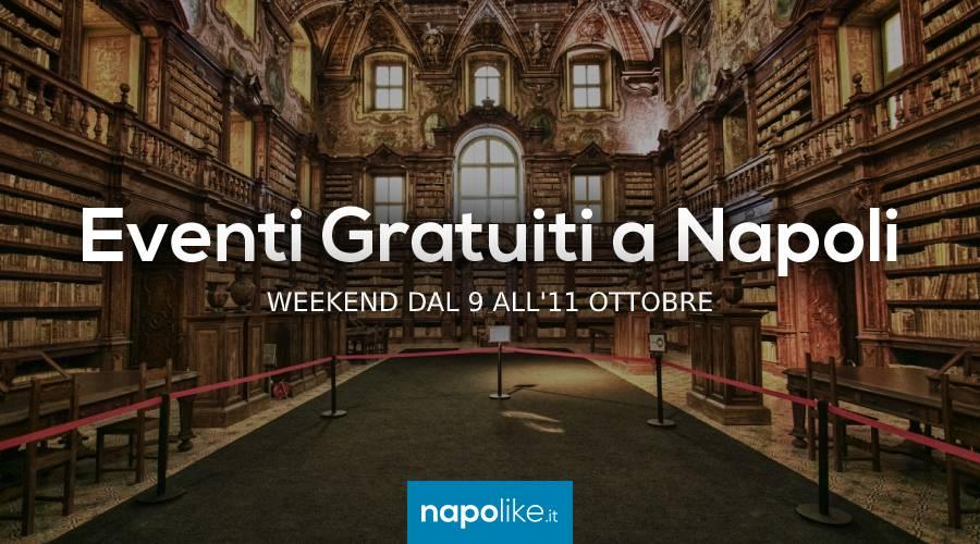Eventi gratuiti a Napoli nel weekend dal 9 all'11ottobre 2020