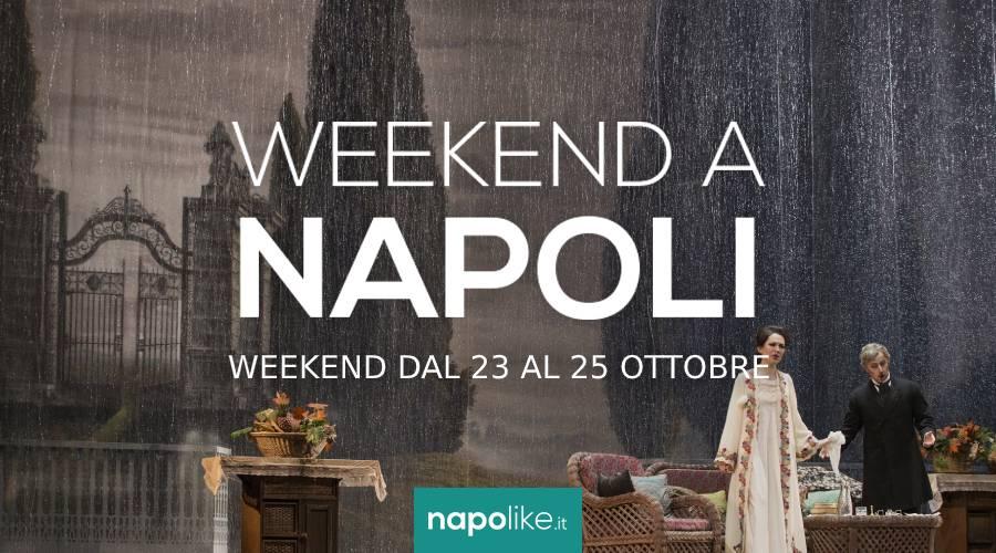 الأحداث في نابولي خلال عطلة نهاية الأسبوع من 23 إلى 25 October 2020