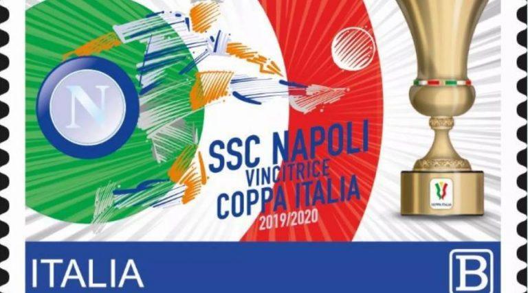 Feierliche Briefmarke des italienischen Paares Napoli