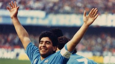 Il calciatore Diego Armando Maradona