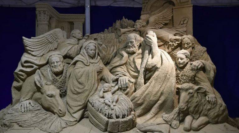 sand nativity scene