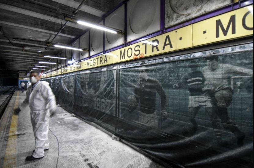 Wandbilder von Napoli Fußballern