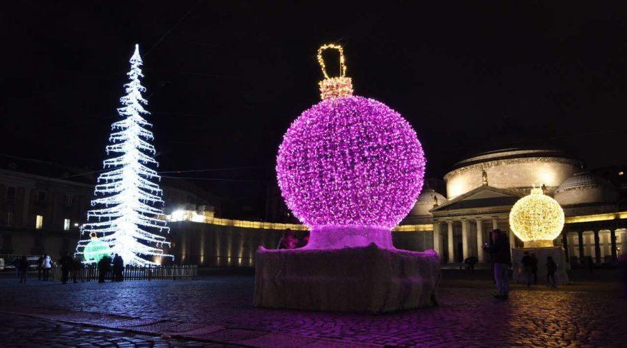 Weihnachtsbeleuchtung in Neapel