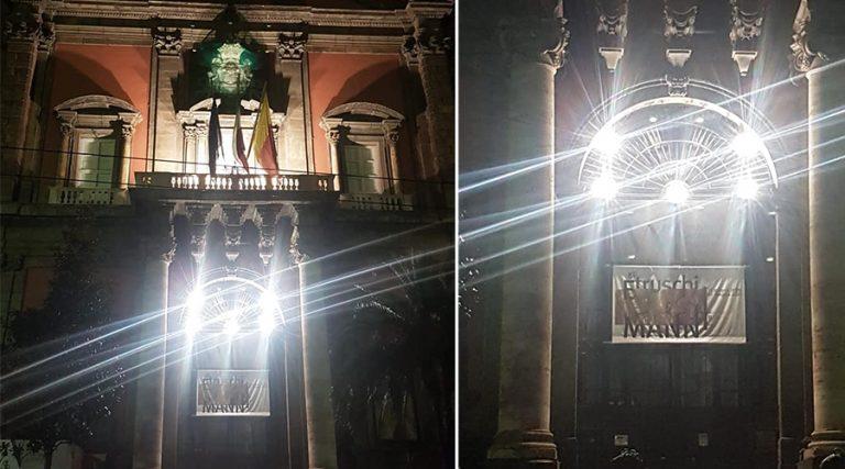 Archäologisches Museum von Neapel beleuchtet