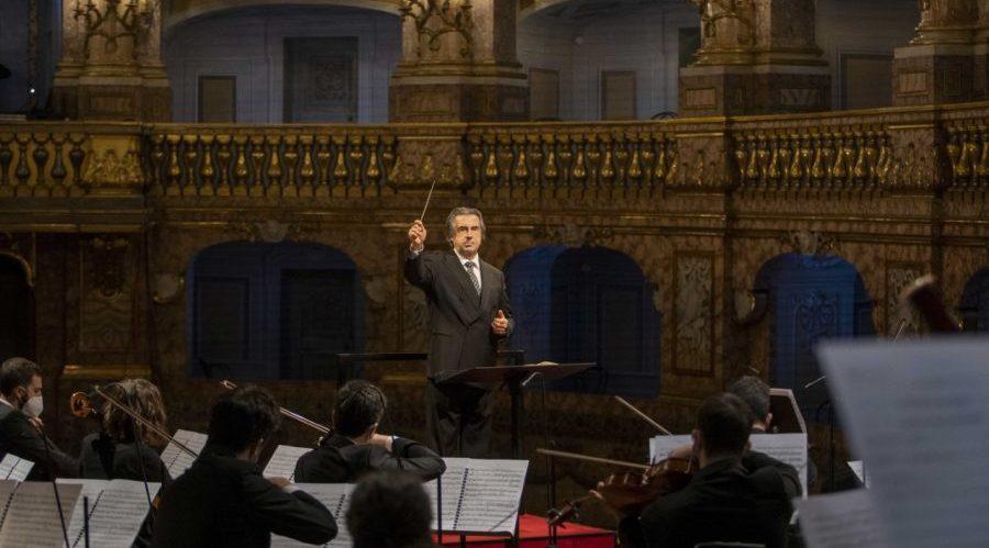 Риккардо Мути в придворном театре Королевского дворца в Казерте