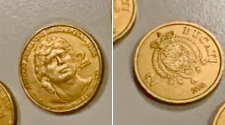 Монета Марадона