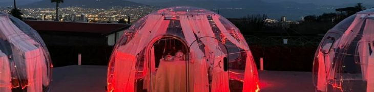 Plexiglasblasen zum Valentinstag in Neapel
