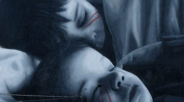 Particolare del murales Sogni di Jorit
