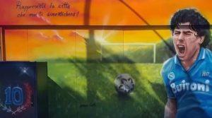 Murale per Maradona a Pozzuoli
