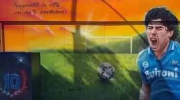 Wandbild für Maradona in Pozzuoli