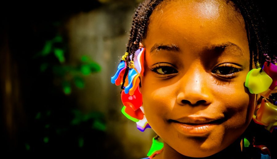 African little girl